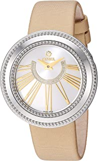 Women's Fifth Avenue Stainless Steel Swiss Quartz Watch with Satin Strap, Gold, 18 (Model: 3246.1)