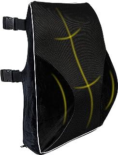 Sponsored Ad - Healthy Spirit Full Lumbar Back Support | Memory Foam Full Size Back Cushion Lumbar Support for Office Chai...
