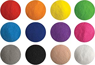 Creative Sand Store Fine Colored Sand [12 Colors 2.64 LBS] for Sand Art & Crafts, Decorative Sand for Terrariums & Sand Pictures