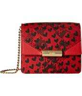 Boutique Moschino - Python and Hearts Print Shoulder Bag