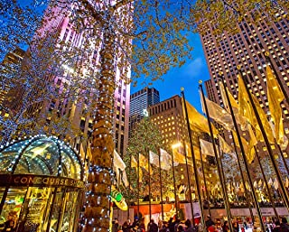 Springbok Rockefeller Center - 1000 Piece Jigsaw Puzzle - Large 30 by 24 inch Puzzle - Made in USA - Unique Cut Interlocking Pieces