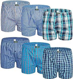 Sponsored Ad - Mens Woven Tartan Boxer Shorts 100% Cotton Multipack