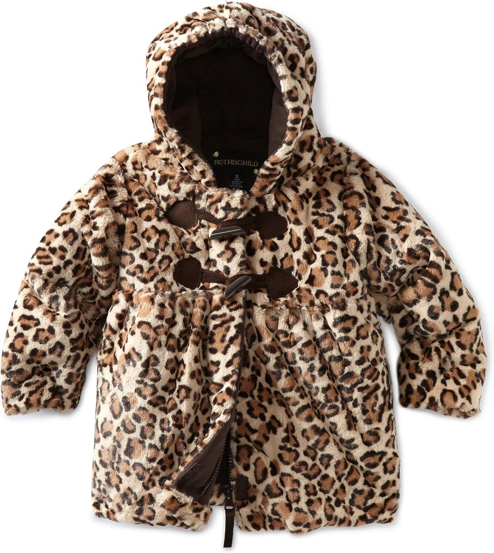 Rothschild Little Girls' Faux Fur Leopard Jacket