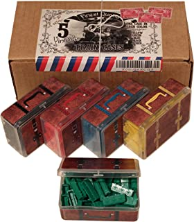 Ticket to Ride Board Game Accessory Kit, Vintage Style Suitcase Storage Containers