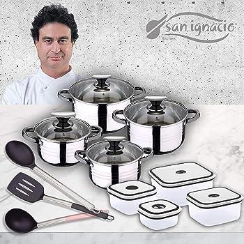 San Ignacio Bateria de Cocina 8 Piezas Acero Inoxidable