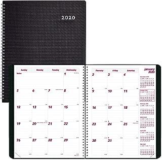 Brownline 2020 Duraflex Monthly Planner, 14 Months (Dec 2019-Jan 2021), Black, 11 x 8.5 Inches (CB1262V.Blk-20)
