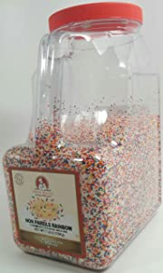 Chef's Quality Nonpareils Rainbow Sprinkles 7 Pounds For Decorating & Baking
