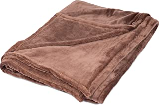 BIRDROCK HOME Internet's Best Plush Throw Blankets - Café (Brown) - Ultra Soft Couch Blanket - Light Weight Sofa Throw - 100% Microfiber Polyester - Easy Travel - Bed - 50 x 60