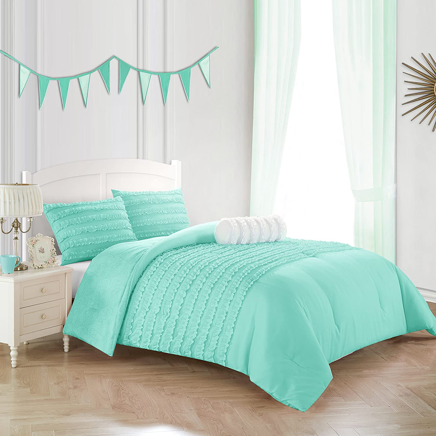 Idea Nuova Comforter Set, Full Queen, Mint