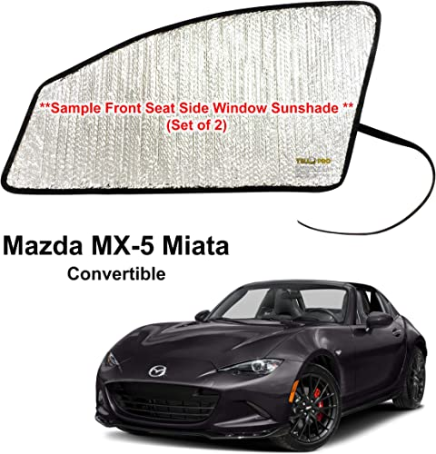 wholesale YelloPro Side Window Front Seat Sunshade (Set of 2) Custom Fit for 2016 2017 2018 2019 2020 2021 Mazda Miata new arrival MX-5 Sport, Club, Grand Touring Convertible, UV 2021 Reflector Sun Protection Accessories online sale