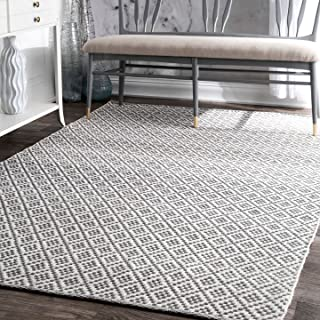 nuLOOM Diamond Trellis Area Rug, 8' x 10', Grey