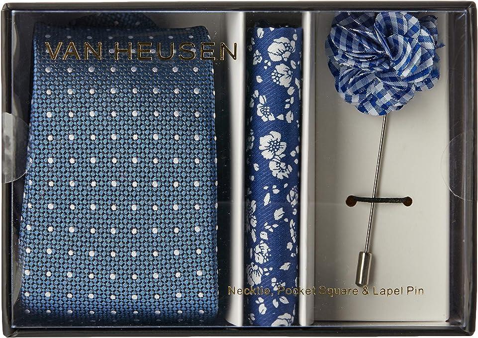 Van Heusen Men's Neck Tie Accessories Gift Pack, Blue, One Size