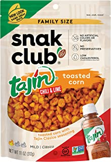 Snak Club Tajin Seasoned Toasted Corn 11 Ounce Resealable Family Size Bag