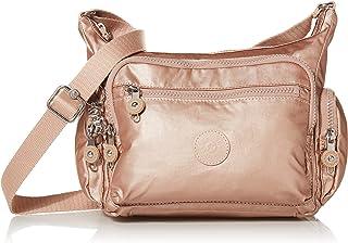 حقيبة يد صغيرة من كيبلينغ جابي، لون ذهبي وردي معدني