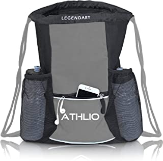 Legendary Drawstring Gym Bag – Waterproof | For Sports & Workout Gear | XL..