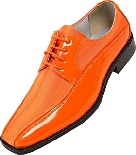 Viotti 179 - Mens Shoes - Oxford Shoes for Men - Mens Casual Dress Shoes, Wedding Shoes Striped Satin, Patent Tuxedo - Dress Shoes for Men; Color