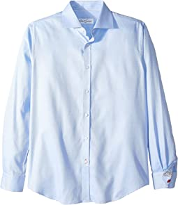 Jimmy Solid Weave Long Sleeve Dress Shirt