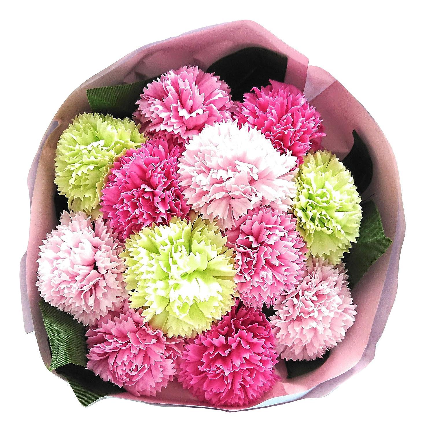 リーク分泌する知的バスフレグランス バスフラワー カーネーションブーケ 母の日 ギフト お花の形の入浴剤 (PINK MIX)