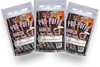 Pro-Puffs™ BBQ | 21g Protein - 3g Carbs | High Protein Puffs | Low Carb, Keto Friendly, Gluten Free, Soy Free, Peanut Free | (BBQ, 3 Pack)