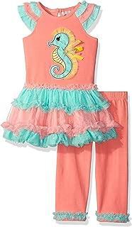 Baby Girls' Seahorse Applique Tutu Legging Set
