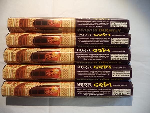 Bharath Darshan 90 Incense Sticks 5 X 18 Stick Packs