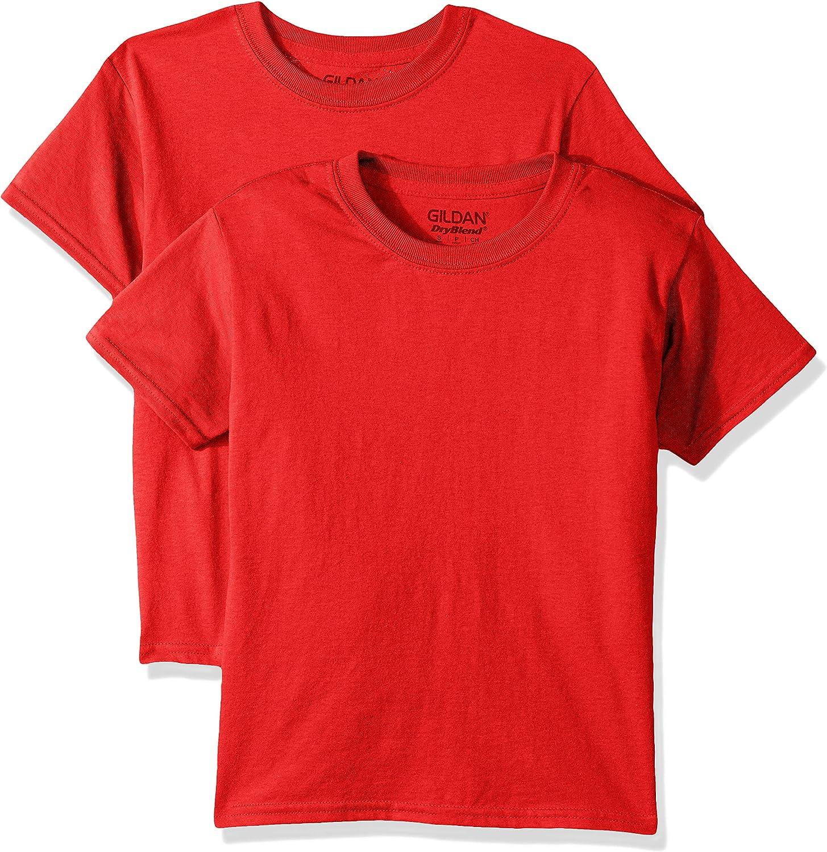 Gildan Kids' Big DryBlend Youth T-Shirt, 2-Pack