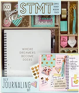 STMT DIY Journaling Set by Horizon Group USA, Personalize & Decorate Yourplanner/Organizer/Diary with Stickers, Gems, Glitter Frames, Glitter Clips, Pen, Magnetic Bookmarks, Tassel Keychain & More