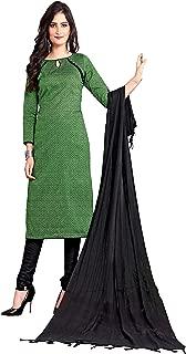 Minu salwar Cotton Printed Suit sets Olive(Suphandloom_1005_0)
