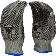 G & F Products 14431 Natural Cotton Work Gloves with double-side PVC Dots Grey Gloves , Assorted ring colors,X-Large, 12 P...