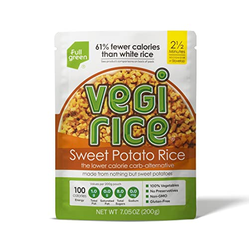 Sweet Potato Vegi Rice - Fullgreen - Low Carb Sweet Potato Veggie Rice (7.05 oz) (1 Count)