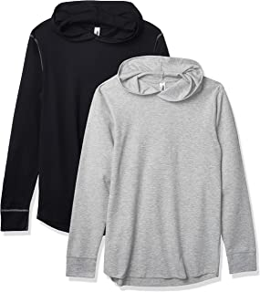 Marky G Apparel Men's Thermal Pullover Hoodie-2 Pack