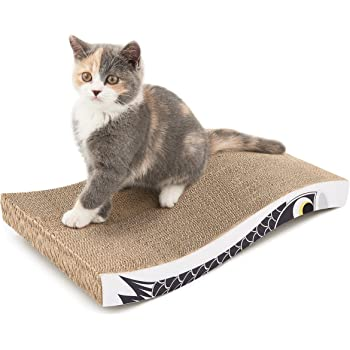 Coching Cat Scratcher Cardboard Scratch Pad with Premium Scratch Textures Design Design Durable Scratching Pad Reversible