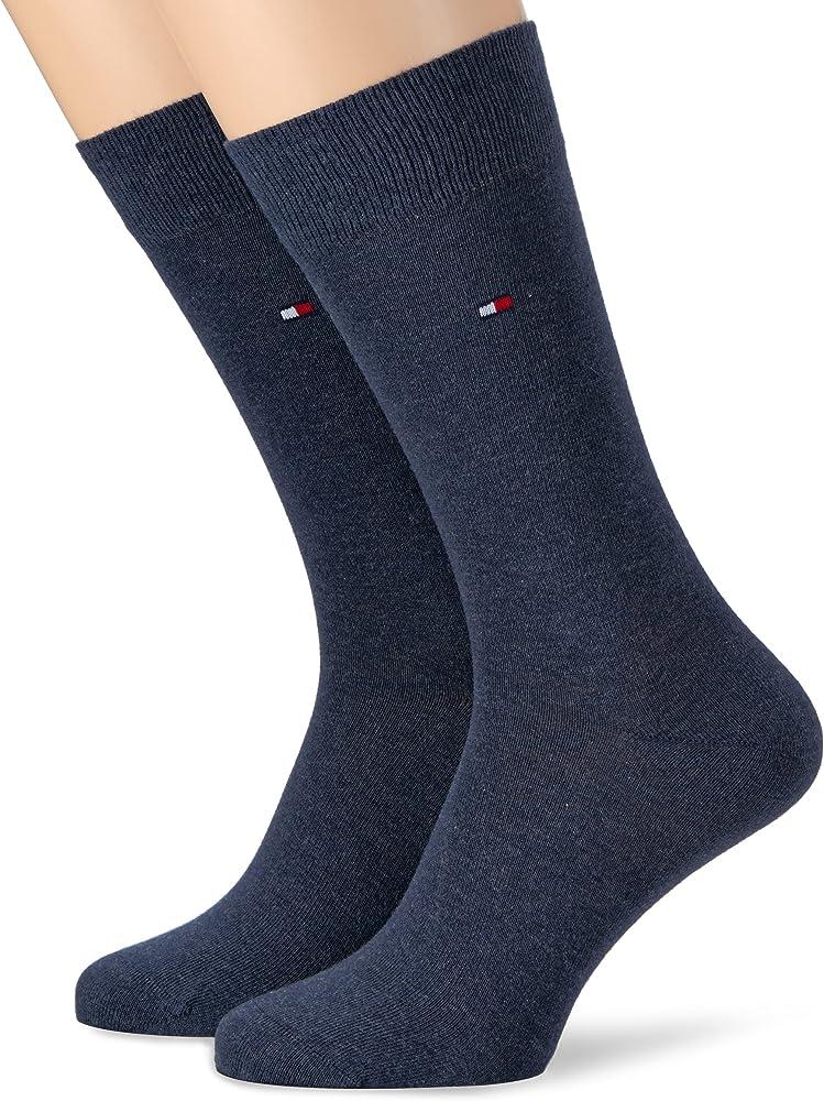 tommy hilfiger , calze per uomo, 2 paia , 75% cotone, 23% poliammide, 2% elastan 371111