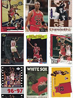 Michael Jordan / 9 Different Basketball Cards Featuring Michael Jordan