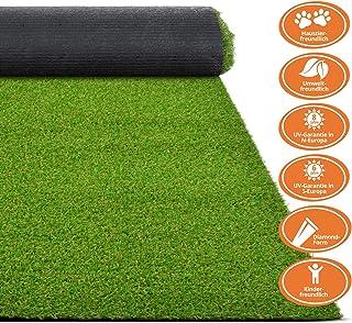 tidyard Kunstrasen Rasenteppich K/ünstliche Grass f/ür Garten Balkon Terrasse Decoration Polh/öhe 7-9 mm 0,5 x 5 m Gr/ün UV-Best/ändig Gesamtgewicht Ca 850 g//m/²