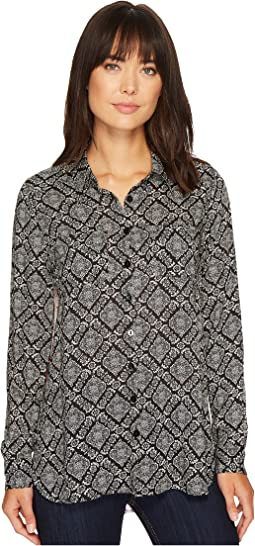 Stetson - 1311 Paisley Lattice Print Top