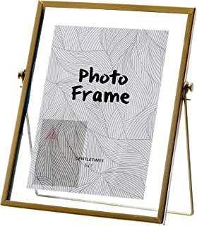 Miaowater 5x7 Picture Frames,Gold Photo Frame Decor with Plexiglas Cover High Definition Glass Desk Pictures Display