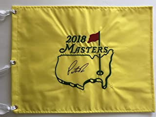 Patrick Reed signed 2018 Masters golf flag augusta national 2019 pga fed ex cup