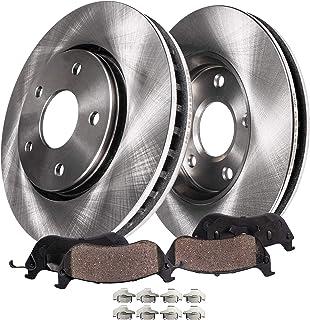 Detroit Axle - Front Disc Brake Kit Rotors & Ceramic Pads w/Clips Hardware Kit for 97-01 Integra Type R - [91-95 Legend Sedan] - 96-98 Acura RL/TL V6 - [97-01 CR-V] - 95-98 Odyssey - [97-01 Prelude]