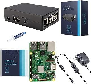 V-Kits Raspberry Pi 3 Model B+ (Plus) Basic Starter Kit with Aluminum Alloy Pi Cooling Case [2018 Model]
