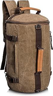 Large Capacity Multi-functional Canvas Backpack Laptop Rucksack Gym Bag