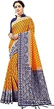 Sarees for Women Banarasi Art Silk Silver Zari Saree l Indian Ethnic Wedding Diwali Gift Sari with Unstitched Blouse