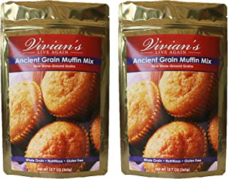 Ancient Grain Muffin & Bread Mix, Gluten Free, Dairy Free, Soy Free by Vivian's Live Again- 2 Pk