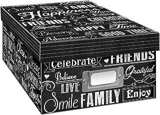 Pioneer Photo Albums Photo Storage Box, Chalkboard, Chalkboad Happiness Design