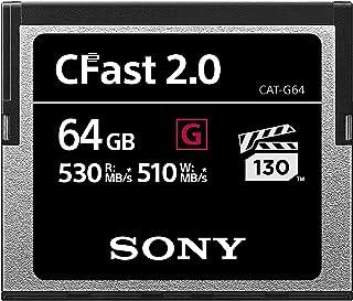 بطاقة ذاكرة سوني CAT-G64 سعة 64 جيجابايت عالية الأداء CFast G Series 2.0