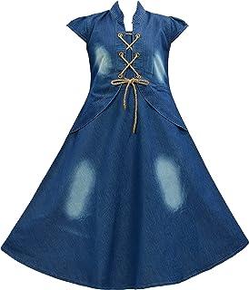 ARK DRESSES Girl's A-Line Knee Length Dress