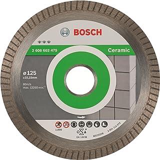 Bosch Professional - Disco de corte de diamante Best for Ceramic Extra-Clean Turbo, 125 x 22.23 x 1.4 x 7 mm