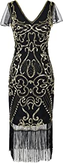 PrettyGuide Women's 1920s Flapper Dress Sequin Cocktail Great Gatsby Dress