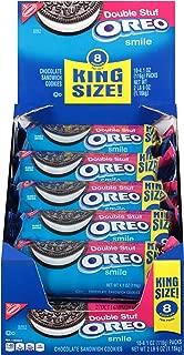 OREO Double Stuf Chocolate Sandwich Cookies, Original Flavor, Pack of 10 (8 cookies per pack) King Size Snack Packs