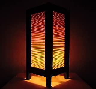 Thai Vintage Handmade ASIAN Oriental Classic Bamboo Art Bedside Table Light or Floor Wood Paper Lamp Shades Home Bedroom Garden Decor Modern Design from Thailand